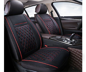 INCH EMPIRE PU Leather Car Seat Cushions 5 Seats Full Set Review