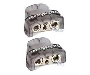 2 ROCKFORD FOSGATE RFDB1 0/1/4-Gauge 8 Ga Positive/Negative Car Battery Terminal Review