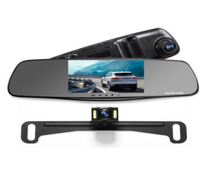 "AUTO-VOX M3 Dual Lens Dash Cam 5"" LCD Full HD 1080P Rearview Mirror Dash Cam and IP 68 Waterproof Car Reverse License Plate Backup Camera Review"