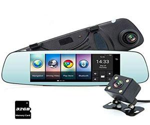 Junsun 4G 7 Dash Cam Car Camera DVR GPS Bluetooth Dual Lens Rearview Mirror Video Recorder Full HD 1080P Automobile DVR Mirror Review