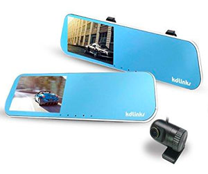 KDLINKS Wide Angle Anti-Glare Rearview Mirror Dual Lens Dash Cam Review