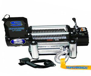 Superwinch 1510200 LP10000 Winch, 10,000lbs/4536kg single line pull with roller fairlead, and 12' handheld remote Review